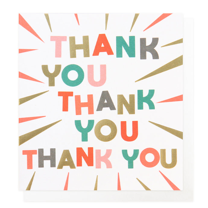 Neon Shine Thank You Card