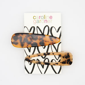 Tortoiseshell Hair Clips Set of 2