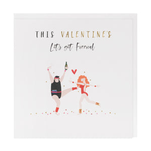 Let's Get Fizzical Valentine's Day Card