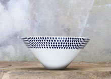 Load image into Gallery viewer, Indigo Drop Serving Bowl