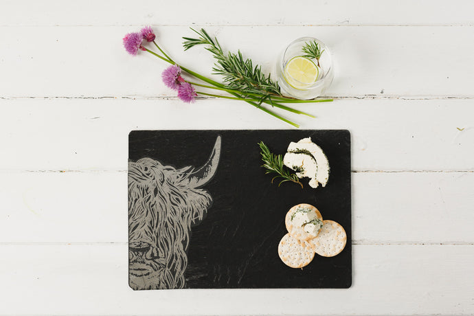 Highland Cow Slate Cheeseboard