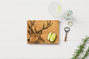 Stag Oak Board & Bottle Opener