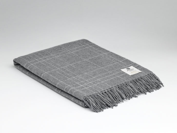 Steel Maze Supersoft Lambswool Throw