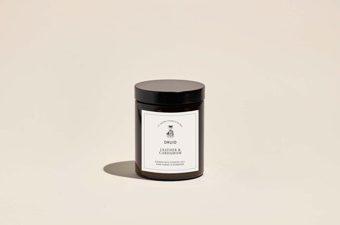 Druid Leather & Cardamon Candle