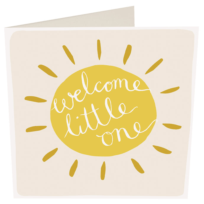Welcome Little One Sun New Baby Card