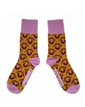 Load image into Gallery viewer, Art Deco Scallop Socks - Ochre
