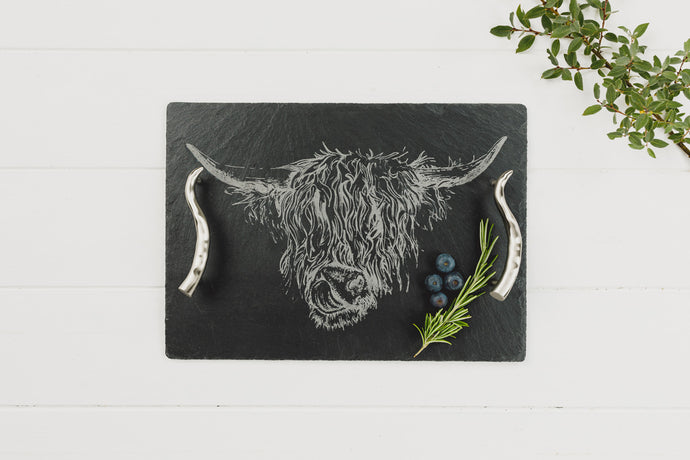 Highland Cow Medium Serving Tray