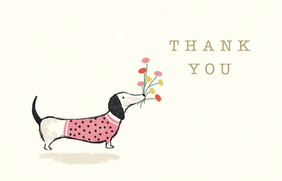 Thank You Note Card Pack of 8