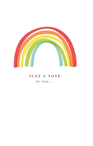 Rainbow 'Just A Note To Say' Card Pack of 8