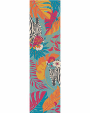 Load image into Gallery viewer, Floral Zebra Satin Neck Scarf