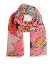 Load image into Gallery viewer, Summer Poppy Print Scarf - Pastels