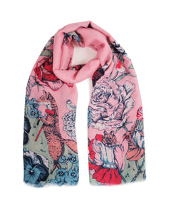 Summer Fete Print Scarf - Pink