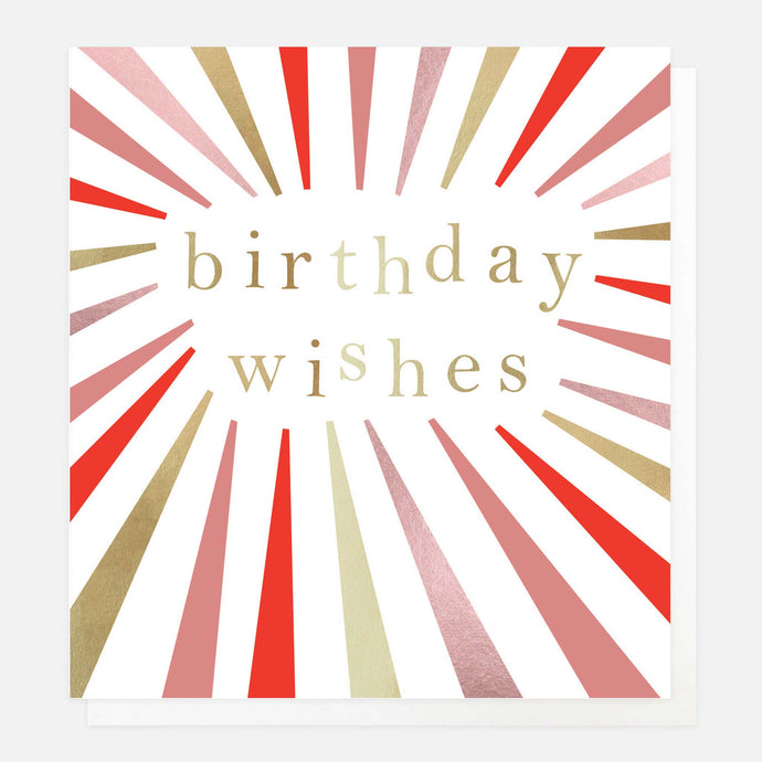 Burst Birthday Wishes Card