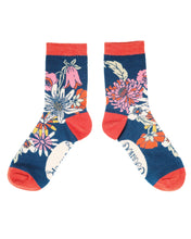 Load image into Gallery viewer, Retro Meadow Ankle Socks - Teal