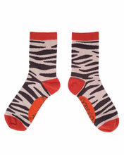 Load image into Gallery viewer, Zebra Print Ankle Socks