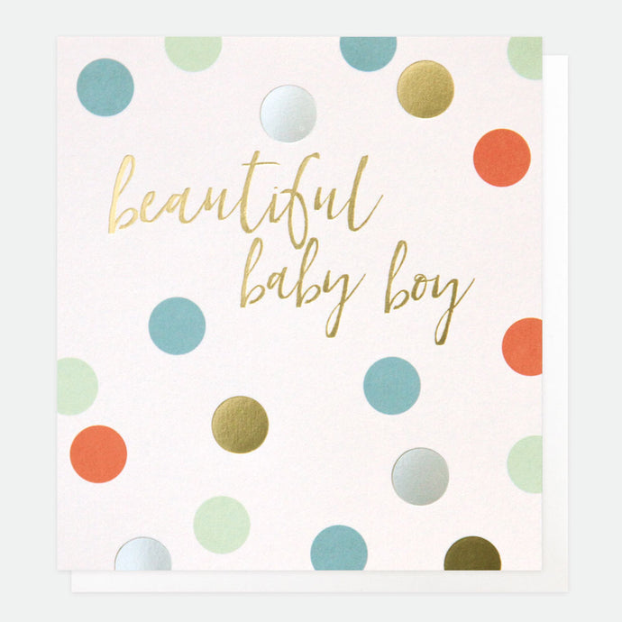 Spot New Baby Boy Card