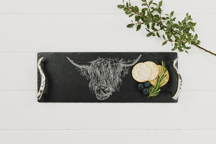 Highland Cow Small Serving Tray