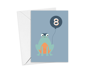 Frog 8th Birthday Card