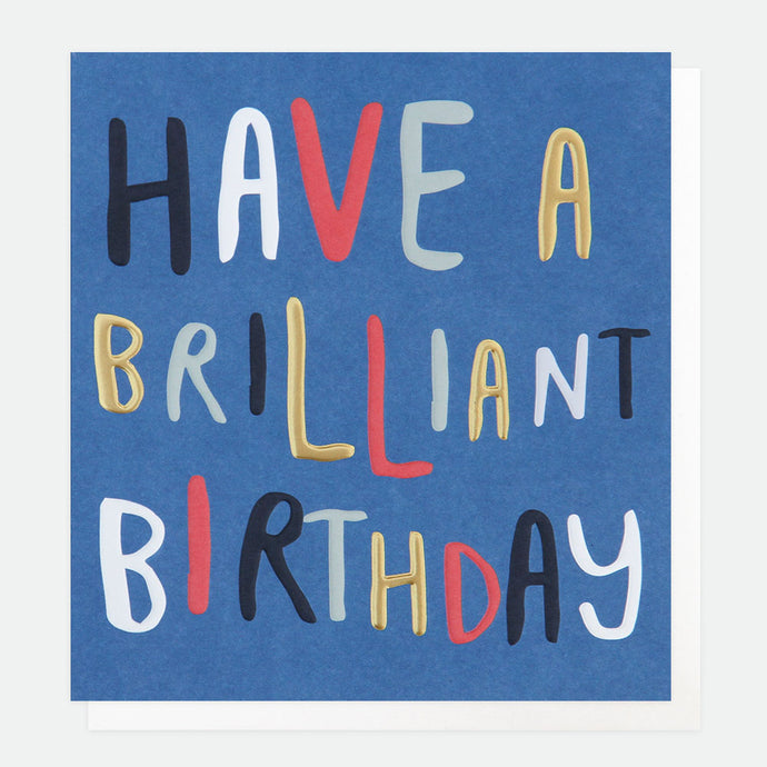Text Brilliant Birthday Card