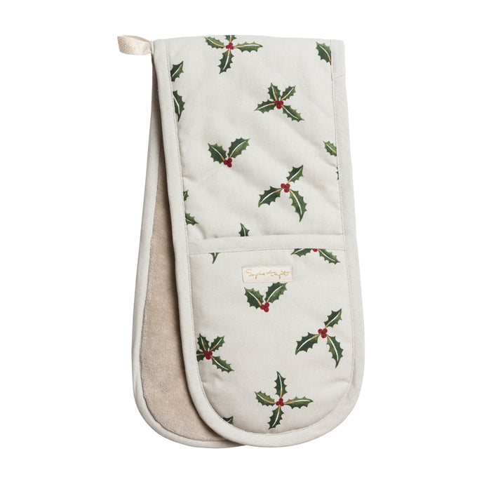 Holly & Berry double Oven Glove