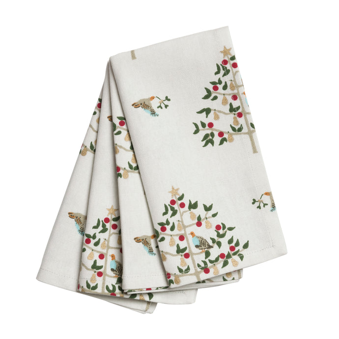 Partridge In A Pear Tree Set of Four Napkins