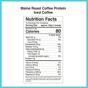 Maine Roast Protein Coffee [Iced Coffee]