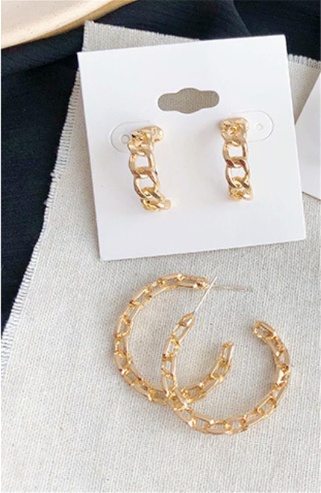 Gold Plated Lace Hoops