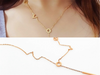Gold Dangle Charms Love Letters Choker Necklaces