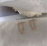 Minimalist Thread Chain Dangle Earrings