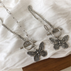 Vintage Butterfly Thread Necklace