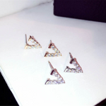Minimalist Cubic Zirconia V Initial Studs Earrings
