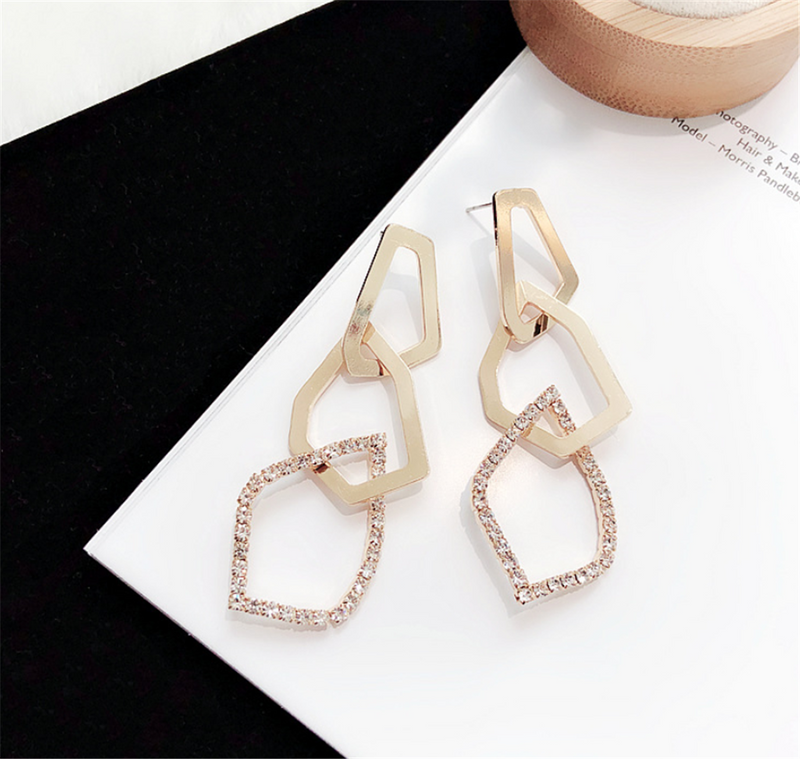 Trio Cubic Zirconia Dangle Hoops Earrings