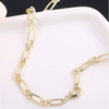 Classic Gold Bar Chain Choker Necklace