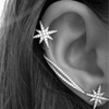 Star Thread Cuff Earrings