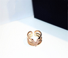 Rose Gold V Initial Adjustment Rings