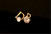 Cubic Zirconia Beaded Studs Earrings