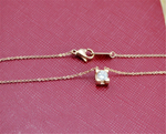 Gold Chain Cubic Zirconia Charms Necklaces