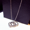 Minimalist Bulk Rings on Chain Necklace Choker