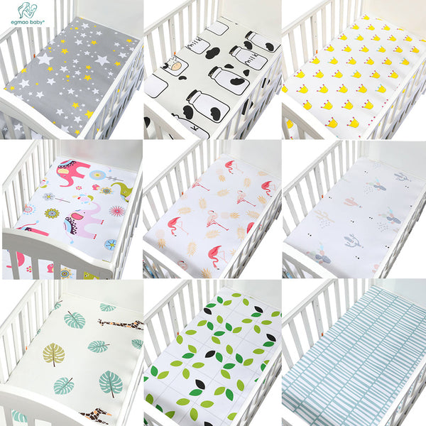 1 PCS 130*70 cm Fitted Crib Sheet