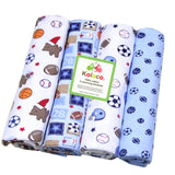 4 pcs Baby Boys/ Girls Crib Sheets Set