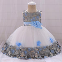 Baby Girl Lace Tulle Baptism Dresses,  1st Year Birthday