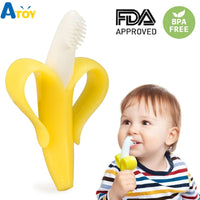 Toddle BPA Free Banana Teething Ring Silicone