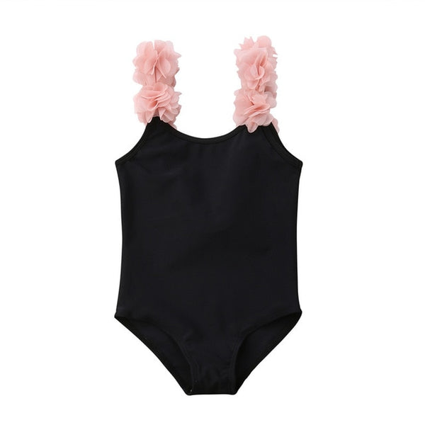 3-D Flower Ruffled Swimsuit