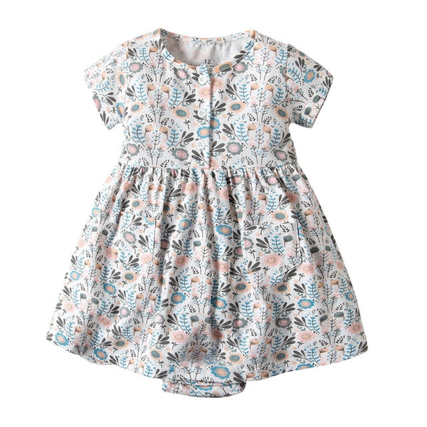 Baby Girl/Toddler Short Sleeve Floral Dress