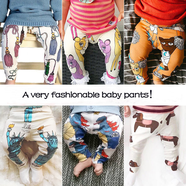 Cartoon Print Cotton Baby/Toddler Pants/ Leggings