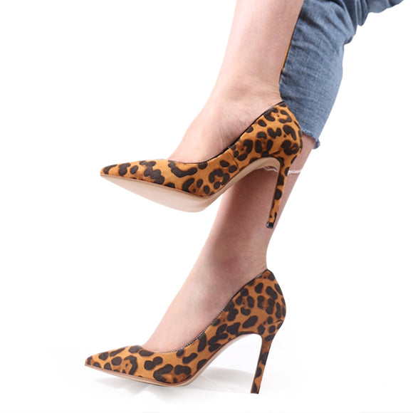 LILIANA- LEOPARD PRINT POINTED STILETTO HIGH HEEL