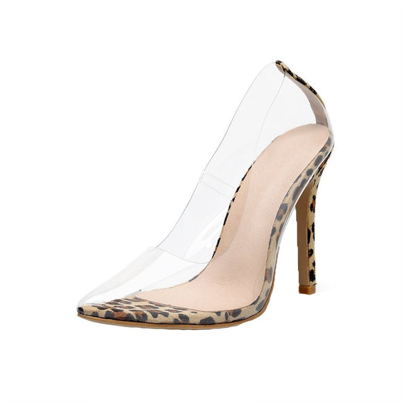 FIRST PLACE | LEOPARD TRANSPARENT HEELS