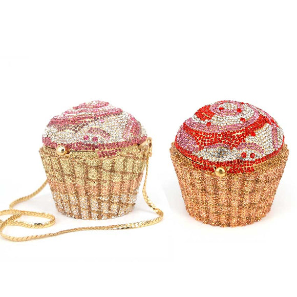 SWEET TOOTH | SWARVOSKI CUPCAKE CRYSTAL CLUTH