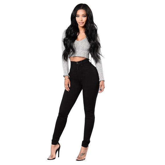 MICHELLE- HIGH WAIST SKINNY JEANS - Waisted Dollhouse