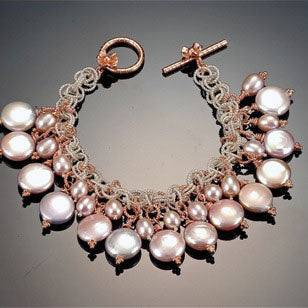 Pink Coin Pearl Bracelet